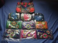 FABRIC WALLETS AND BAG