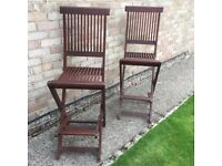 2 FOLDING GARDEN BAR CHAIRS / STEAMER CHAIRS IN EXCELLENT CONDITION!! ONLY £30 THE PAIR!!