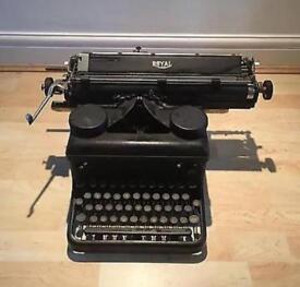 Vintage retro black royal typewriter