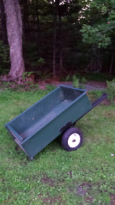 Dump trailor for atv or lawn tractor
