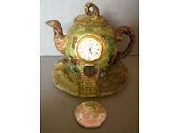 lincoln miniature teapot clock