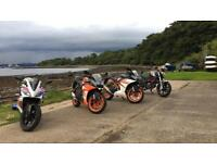 Ktm rc 125 cash or swap for supermoto or grom