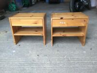 Pair of matching bedside tables/ nlockers/ cabinets