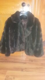 Authentic faux fur coat