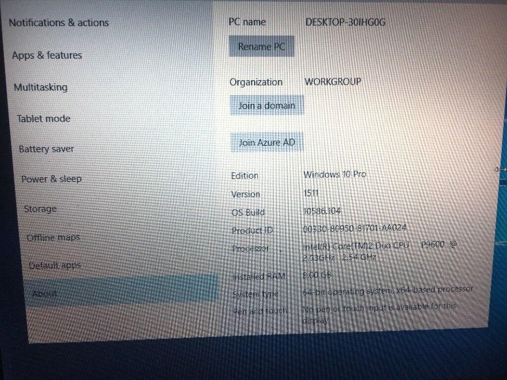 Dell latitude E4300 8gb windows 10 pro