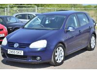 2005 (55) VOLKSWAGEN GOLF 2.0 GT TDI 6 SPEED 2 KEEPERS LONG MOT 5 DOOR SPORTBACK