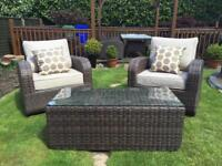Luxury rattan table and chairs