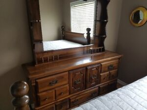 Full (Double) Bed Frame and Dresser Set