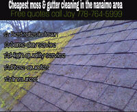 Cheapest moss/gutter cleaning in town free quotes 778-764-5999