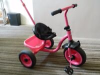 childrens tricycle - girls (pink)