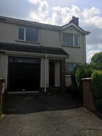 DUNADRY, ANTRIM spacious 3 bed semi-detached house