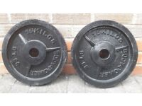 15KG CAST IRON OLYMPIC WEIGHT PLATES