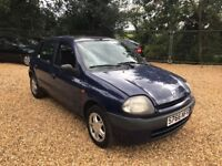 1999 Renault Clio 1.2 Low Milage Cheap Car No MOT