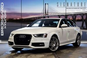 2013 Audi A4 2.0T GPS NAVI S-LINE MAGS CUIR TOIT OUVRANT