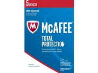 McAfee Total Protection 5 Device 1-year Licence