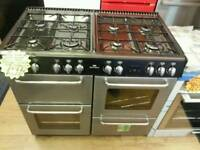 NEW WORLD RANGE 100CM GAS COOKER IN SILVER