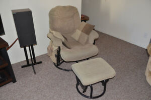 Glider Rocker with ottoman.REDUCED