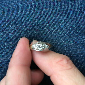 Two tone people's Diamond engagement ring