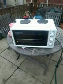 Mini oven & 2hobs
