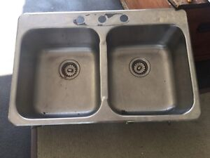 Kindred stainless steel double sink