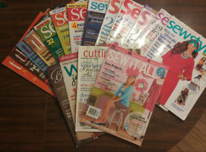 17 Assorted Sewing Magazines incl. Threads