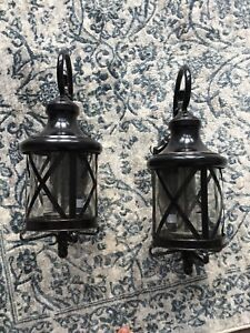 2 exterior wall lights