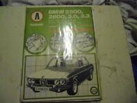 BMW 2500, 2800, 3.0, 3.3. 1968 - 77 Autobook.