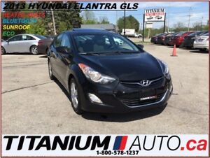 2013 Hyundai Elantra GLS+BlueTooth+Sunroof+Alloys+Heated Seats+N