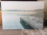 Follow your dreams canvas picture 118cm wide x 80cm height