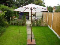 Homebase 2 metre wooden garden parasol brand new