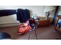 Cleveland golf set and callaway golf bag