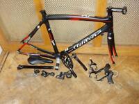 Carbon Road Bike Un-finshed Project 58cm Italian frame plus parts £250.