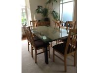 BARKER AND STONEHOUSE CONTEMPORARY EXTENDABLE DINING ROOM TABLE - GLASS