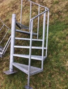 12 foot galvanized outdoor stairs