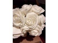 Large cream/ivory single roses