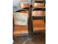 *FOR SALE* 4 Vintage Industrial School Chairs