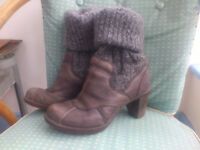 Quality leather boots (size 4, woman/ teenager) - El Naturalista