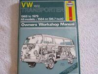 Haynes VW Transporter 1600 Owner's Manual '68 to '79