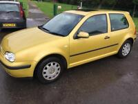 VOLKSWAGEN GOLF 1.4 3 DOOR 10 MONTH MOT BARGAIN!!!