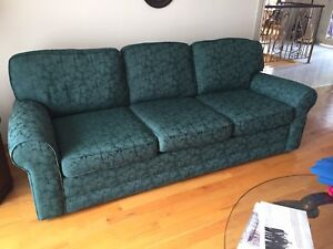 Couch with wooden frame construction
