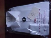 Mens white double cuff shirt (small) ideal for wedding, funeral etc