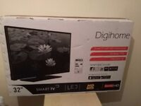 """Great 32""""; DIGIHOME LED SMART TV hd ready freeview"""
