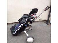 Golf Set - Bag, Trolley, Dunlop Driver / Woods, Fazer XR Irons and Lynx Prowler Putter