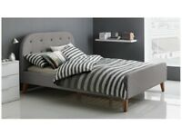 Brand New Kingsize Grey Fabric Bed Frame