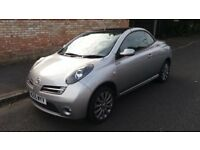NISSAN MICRA (ESSENZA) CONVERTIBLE -55-REG - 2005 (NEW SHAPE) - 1.6 LITRE - £1495