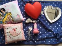 Girls bedroom bundle cushion Ikea wall light night light Disney Princess