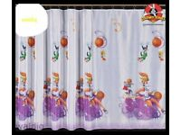 Looney Tunes voile net curtain x2 for kids children window decoration