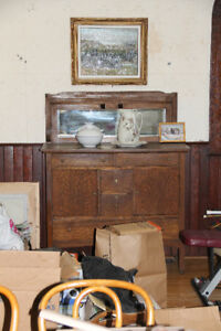 ARTS&CRAFTS STYLE CABINET ANTIQUE REDUCED TO $550.00