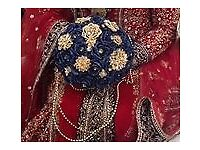 Beautiful Dark Blue and Gold Bridal Bouquet