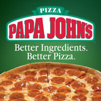 Now hiring full and part time for Papa john's pizza vernon